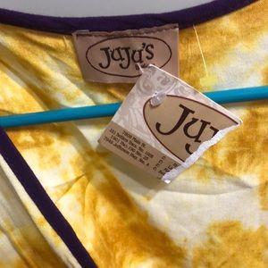 JuJu Dresses - Juju's purple gold LSU romper ruffles beach